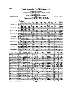 Marsch für Militärmusik Nr.1 in F-Dur, WoO 18: Marsch für Militärmusik Nr.1 in F-Dur by Ludwig van Beethoven