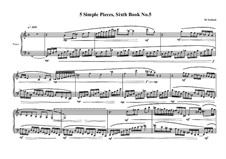 5 Simple pieces for piano: Sixth book No.5, MVWV 708 by Maurice Verheul