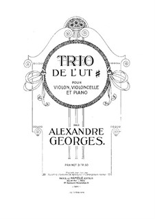 Klaviertrio in A-Dur: Cellostimme by Alexandre Georges