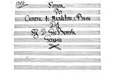 Sonata per camera di Mandolino e Basso: Sonata per camera di Mandolino e Basso by Giovanni Battista Gervasio