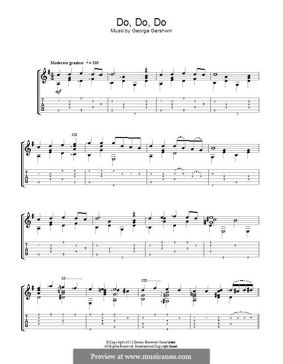 Do Do Do: Für Gitarre by George Gershwin