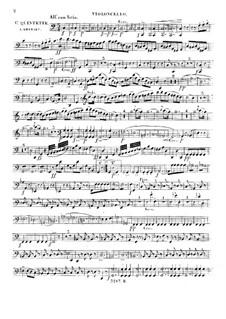 Streichquintett Nr.1 in C-Dur, Op.56: Cellostimme by Giuseppe Ghébart