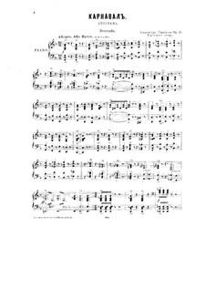 Karneval, Op.45: Für Klavier, vierhändig by Alexander Glazunov