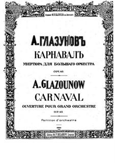 Karneval, Op.45: Vollpartitur by Alexander Glazunov