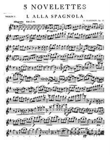 Fünf Noveletten für Streichquartett, Op.15: Violinstimme I by Alexander Glazunov