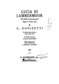 Lucia di Lammermoor: Klavierauszug mit Singstimmen by Gaetano Donizetti