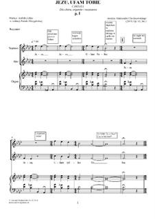 Jesus, I trust in you, Op.63 No.1: Jesus, I trust in you by Alexander Khodakovsky