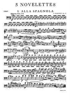 Fünf Noveletten für Streichquartett, Op.15: Cellostimme by Alexander Glazunov