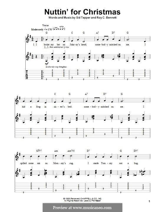 Nuttin' for Christmas: Für Gitarre mit Tabulatur by Sid Tepper