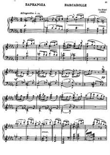 Zwei Stücke für Klavier, Op.22: Nr.1 Barkarole by Alexander Glazunov