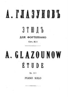 Drei Etüden, Op.31: Vollsammlung by Alexander Glazunov