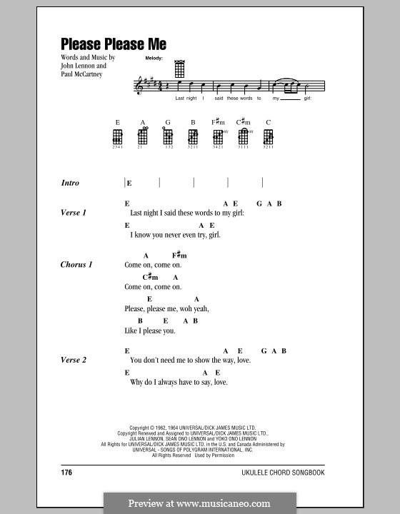 Please Please Me (The Beatles): Für Ukulele by John Lennon, Paul McCartney