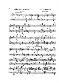 Raimonda, Op.57: Akt II für Klavier by Alexander Glazunov