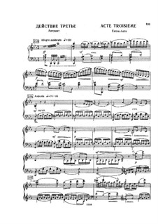 Raimonda, Op.57: Akt III für Klavier by Alexander Glazunov