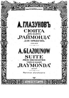 Raimonda, Op.57: Suite. Partitur by Alexander Glazunov