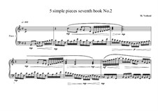 5 Simple pieces for piano: Seventh book No.2, MVWV 710 by Maurice Verheul