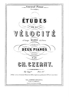School of Velocity, for Two Pianos, Op.299 bis: Second part by Carl Czerny