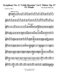 Teil IV: Klarinette in B 2 (transponierte Stimme) by Pjotr Tschaikowski