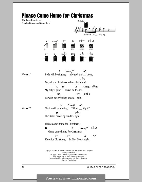 Please Come Home for Christmas (The Eagles): Für Ukulele by Charles Brown, Gene Redd