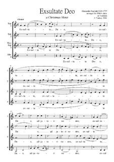 Exultate Deo: Singpartitur (SSMA) by Alessandro Scarlatti
