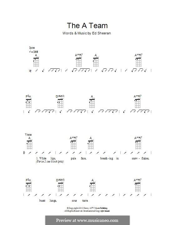 The a Team: Für Ukulele by Ed Sheeran