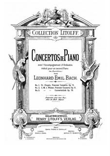 Konzert für Klavier und Orchester Nr.1, J.98 Op.11: Bearbeitung für zwei Klaviere by Carl Maria von Weber