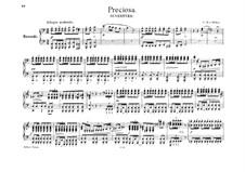 Preciosa, J.279 Op.78: Ouvertüre, für Klavier, vierhändig by Carl Maria von Weber