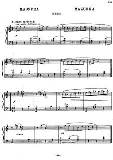 Mazurka für Klavier in C-Dur: Mazurka für Klavier in C-Dur by Michail Glinka