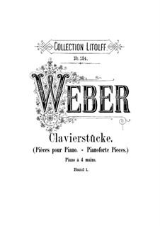 Sechs leichte Stücke für Klavier, vierhändig, J.9–14 Op.3: Vollsammlung by Carl Maria von Weber