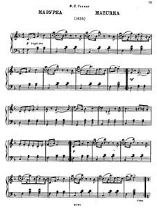 Mazurka für Klavier in F-Dur: Mazurka für Klavier in F-Dur by Michail Glinka