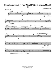 Teil II (Largo): Horn in F 3 (transposed part) by Antonín Dvořák