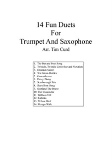 14 Fun Duets: For trumpet and saxophone by folklore