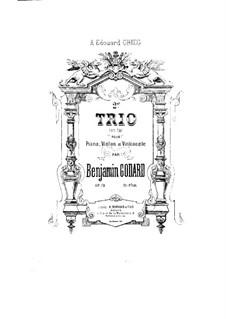 Klaviertrio Nr.2 in F-Dur, Op.72: Vollpartitur by Benjamin Godard
