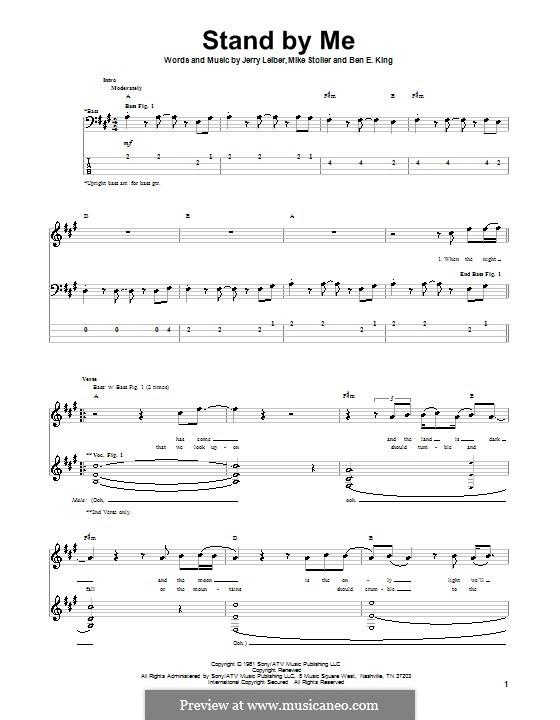 Stand By Me: Für Bassgitarre mit Tabulatur by Ben E. King, Jerry Leiber, Mike Stoller