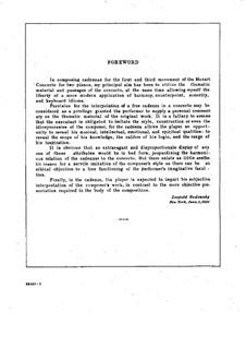Kadenza zum Klavierkonzert Nr.10 von Mozart: Für zwei Klaviere, vierhändig by Leopold Godowsky