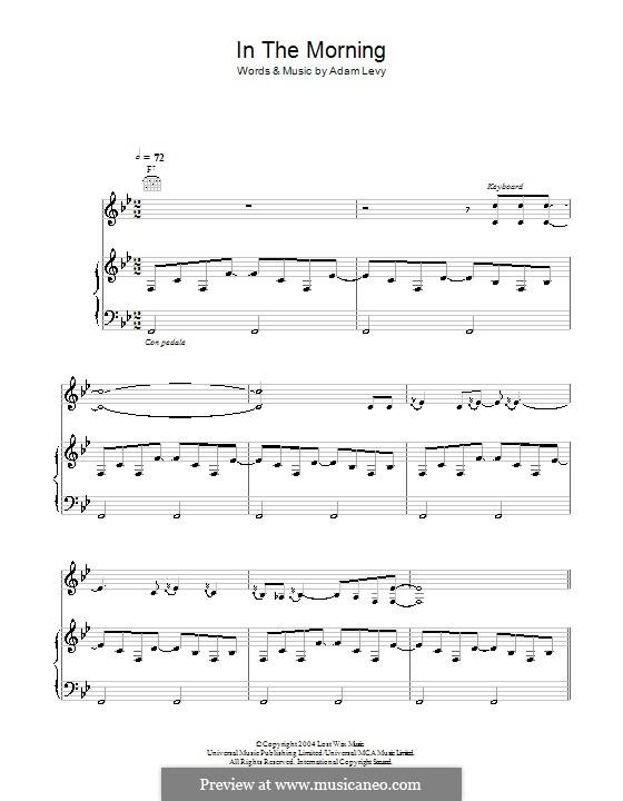 In the Morning (Norah Jones): Für Stimme und Klavier (oder Gitarre) by Adam Levy