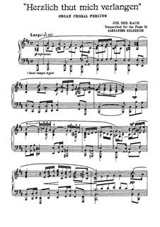 Choralvorspiele (Übrige): Herzlich thut mich verlangen, BWV 727 by Johann Sebastian Bach