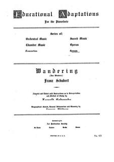 Nr.1 Das Wandern: Klavierauszug mit Singstimmen by Franz Schubert