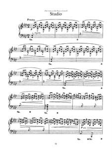 Sechs Stücke für Klavier: No.5 Studio by Ottorino Respighi