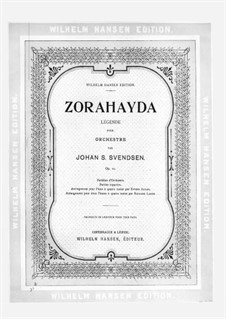 Zorahayda, Op.11: Für Klavier, vierhändig by Johan Svendsen