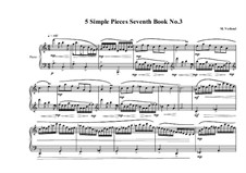 5 Simple pieces for piano: Seventh book No.3, MVWV 712 by Maurice Verheul