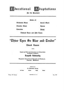 Thine Eyes So Blue: Für Klavier by Eduard Lassen