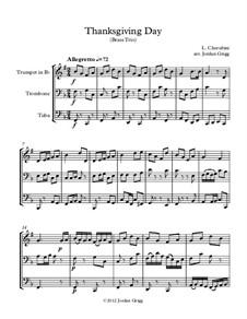 Thanksgiving Day: For brass trio by Luigi Cherubini