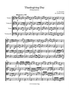 Thanksgiving Day: Für Streichquartett by Luigi Cherubini