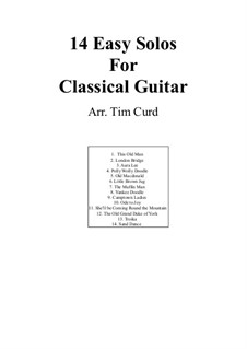 14 Easy Tunes for Guitar: 14 Easy Tunes for Guitar by Ludwig van Beethoven, Stephen Foster, folklore, George R. Poulton