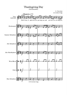 Thanksgiving Day: Orff ensemble by Luigi Cherubini