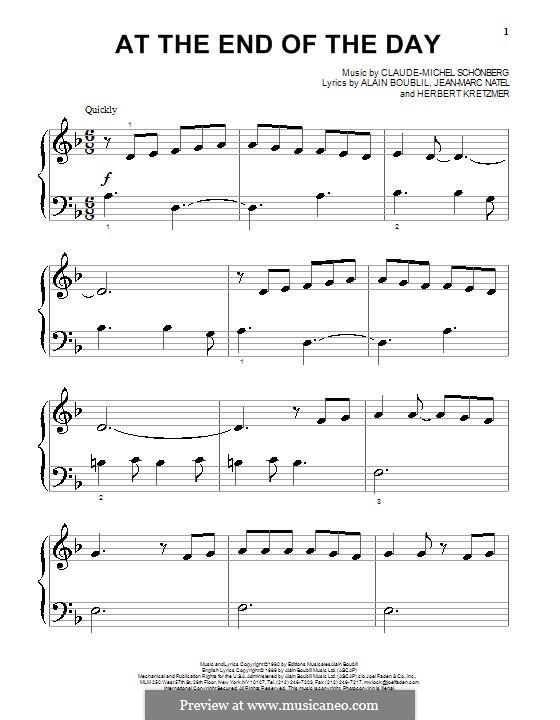 At the End of the Day: Für Klavier by Claude-Michel Schönberg