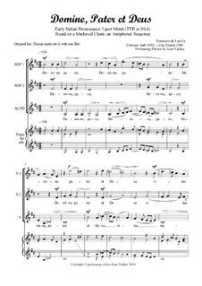 Domine, Pater et Deus: For SSA voices by Francesco de Layolle