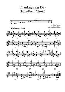 Thanksgiving Day: For handbell choir by Luigi Cherubini