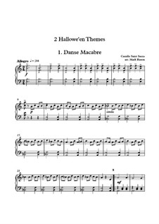 2 Halloween Themes for Solo Piano: Danse Macabre and In The Hall Of The Mountain King: 2 Halloween Themes for Solo Piano: Danse Macabre and In The Hall Of The Mountain King by Camille Saint-Saëns, Edvard Grieg